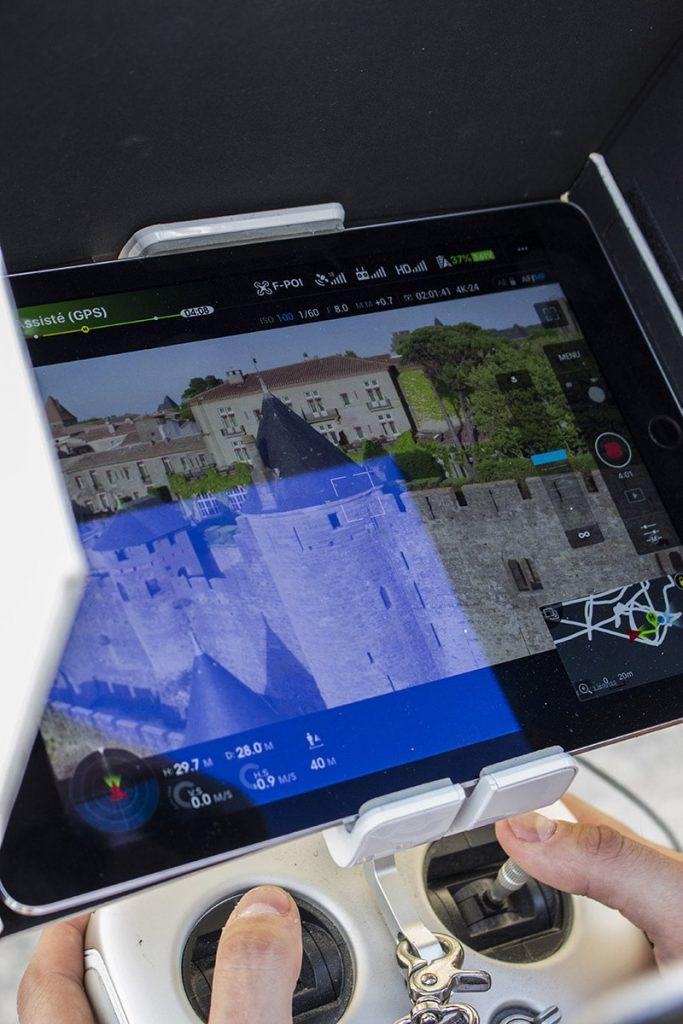 tournage frenchidrone cité de Carcassonne