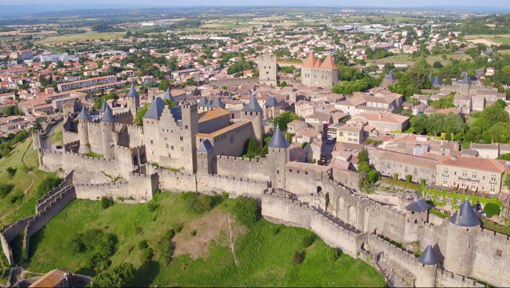 Cité de Carcassonne vue aerienne 2