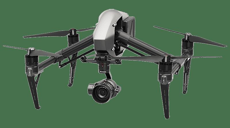 Drone DJI INSPIRE 2 utilisé en formation chez Frenchidrone