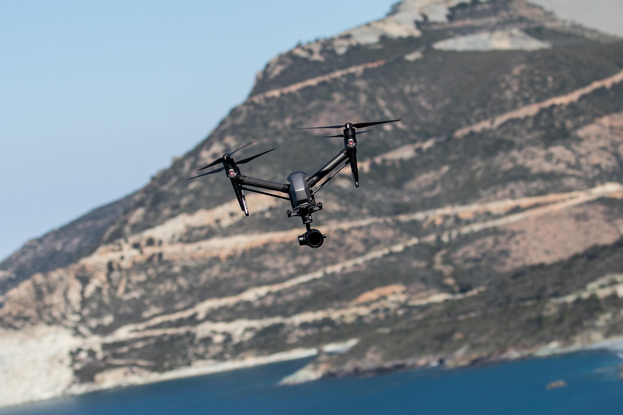drone inspire 2 à Nonza