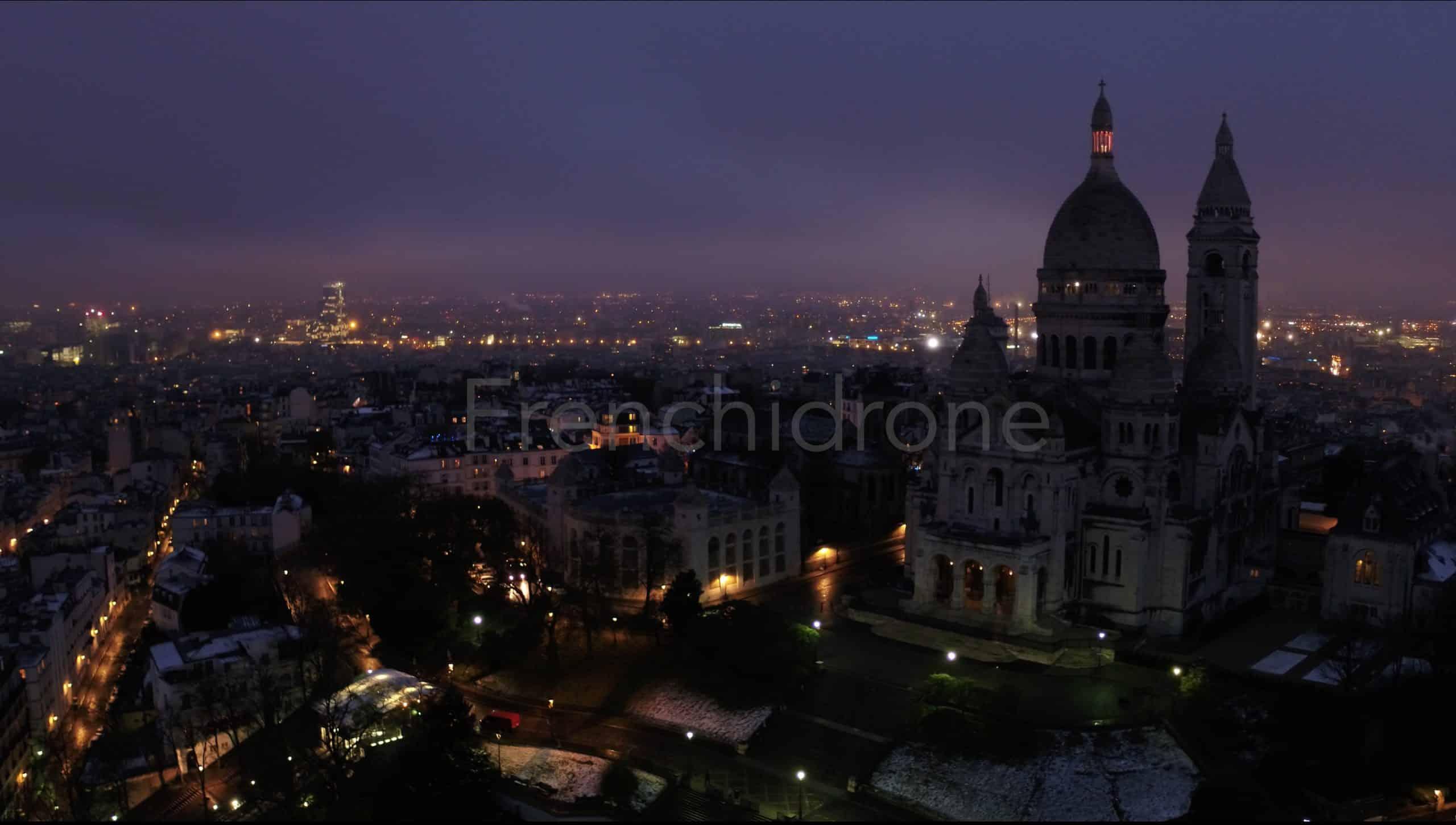 Prise de vue aerienne Montmartre 2017