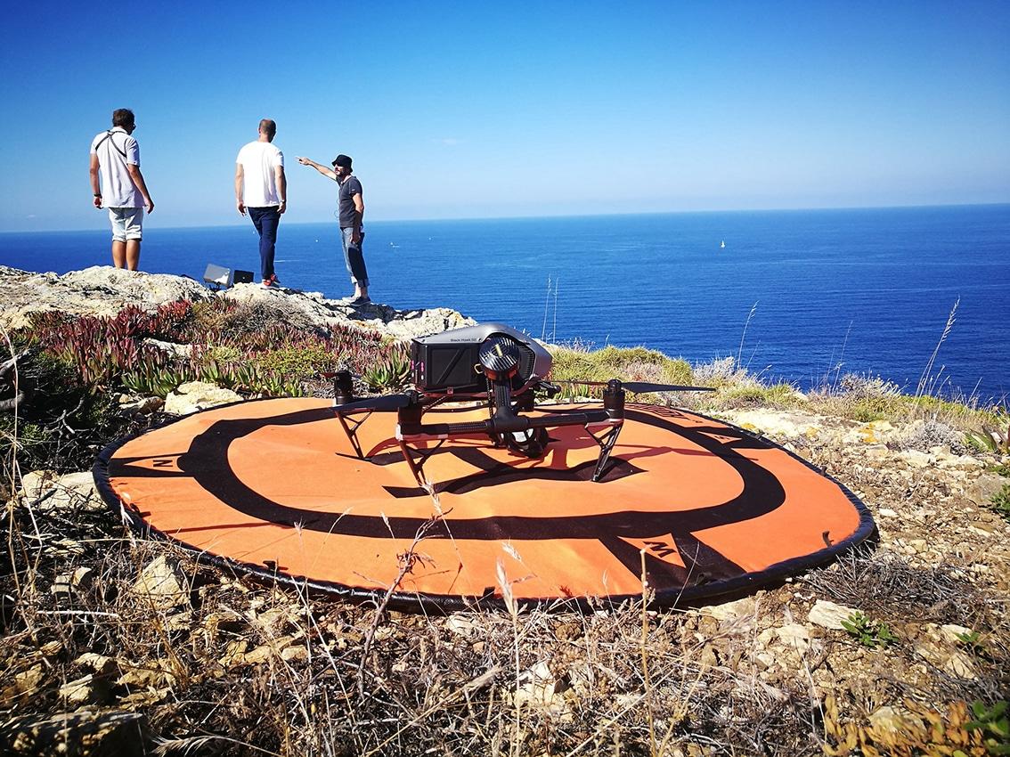 tournage drone corse