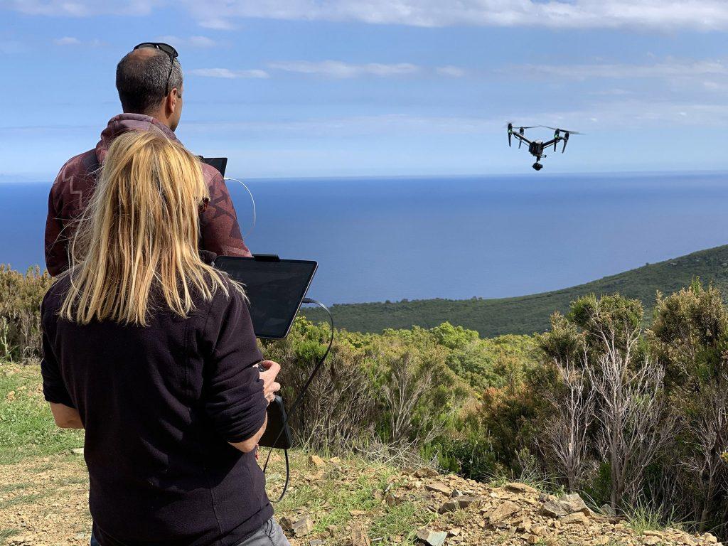 Dual opérateur drone inspire 2