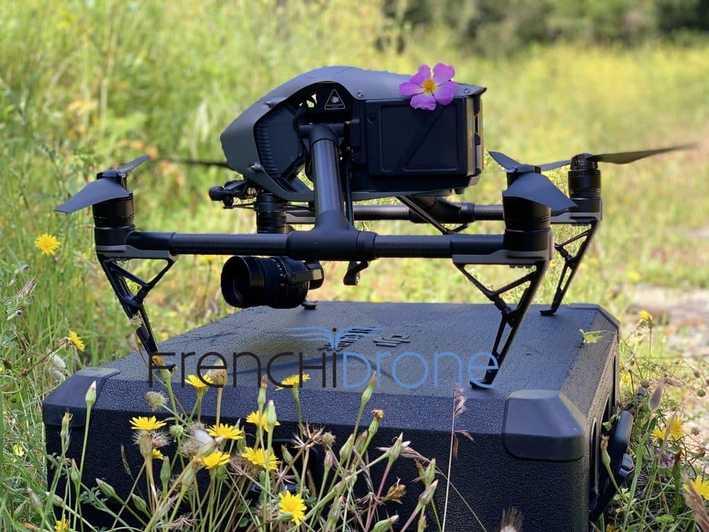 Drone Dji Inspire 2 posé au sol