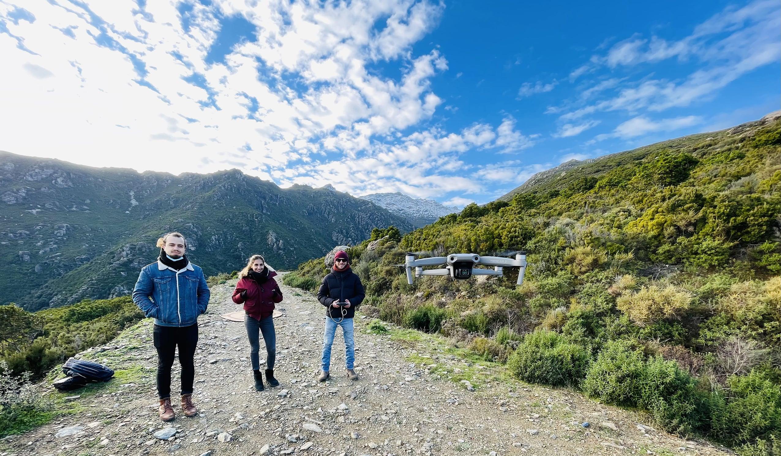formation drone dans un cadre merveilleux en Haute Corse